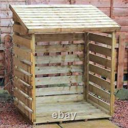 3ft LOG STORE PRESSURE TREATED WOODEN LOGSTORES NEW UN USED WOOD LOGSTORE