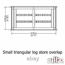 3x2 TRIANGLE LOGSTORE OVERLAP STORAGE FIREWOOD RACK LOG STORE WOODEN TIMBER WOOD