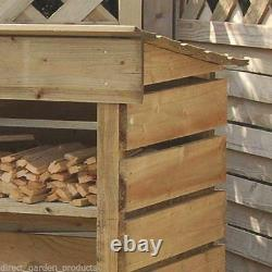 4ft LOG STORE WOOD STORAGE PRESSURE TREATED WOODEN LOGSTORES NEW UN USED STORES