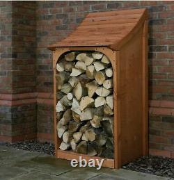 AFK Sandringham Wooden Log Store Ventilated Stain