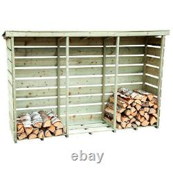 Bentley FSC Nordic Spruce Wooden 3 Log Store Firewood Storage Heavy Duty
