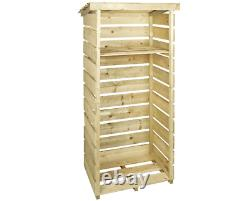 Bentley FSC Wooden Single Tall Log Store Warehouse clearance, NO FIXINGS