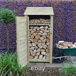 Burley 6ft Outdoor Wooden Log Store Also Available With Doors UK Hand Made