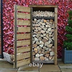 Burley 6ft Outdoor Wooden Log Store Reversed Roof UK HAND MADE