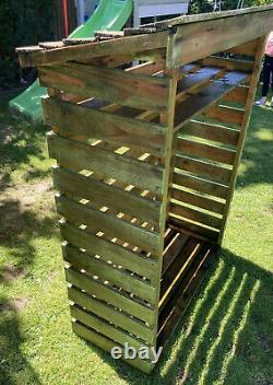 Charles Bentley FSC Wooden Garden Small Log Store Heavy Duty Firewood Storage