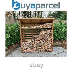 Charles Taylor Wooden Log Wood Store Kindling Shelf Garden Storage Large