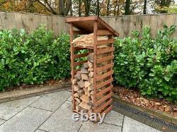 Charles Taylor Wooden Log Wood Store Kindling Shelf Garden Storage Small