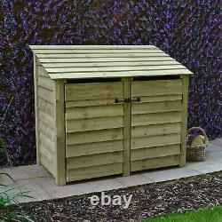 Cottesmore 4ft Outdoor Wooden Log Store Available With Doors UK Hand Made