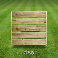 Cottesmore 4ft Slatted Outdoor Wooden Log Store Clearance Stock- UK Handmade