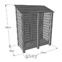 Cottesmore 6ft Outdoor Wooden Log Store Clearance Stock UK Hand Made