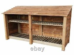 Double Bay Wooden Log Store