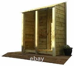 Double Door Wooden Log Store