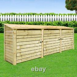 Empingham 4ft Wooden Log Store Also Available With Doors UK Hand Made