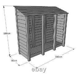 Empingham 6ft Wooden Log Store Also Available With Doors UK Hand Made