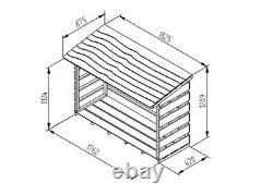 Forest Large Outdoor Wood Store Wooden Log Store Pressure Treated