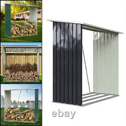 Galvanised Steel Outdoor Wooden Log Store Metal Garden Fire Wood Store Shed Pent