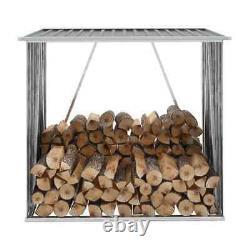 Garden Firewood Shelter Log Store Wooden Shelter Outdoor Storage Shed Durable