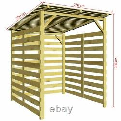 Garden Firewood Storage Shed Impregnated Pinewood Fire Wood Log Store Wooden
