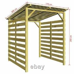 Garden Firewood Storage Shed Impregnated Pinewood Fire Wood wooden Log Store