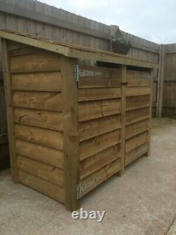 Gidleigh 5ft Wide Outdoor Wooden Log store Available With Doors And Shelf