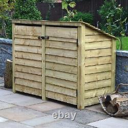 Hambleton 4ft Outdoor Wooden Log Store Reversed Roof UK HAND MADE