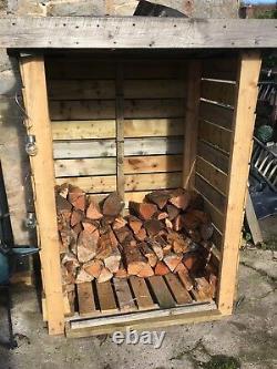 Hand built 5ft wooden log store