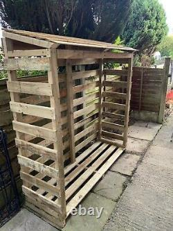 Handmade High Quality, X-Large Wooden Log / Wood Store, Delivered & Installed