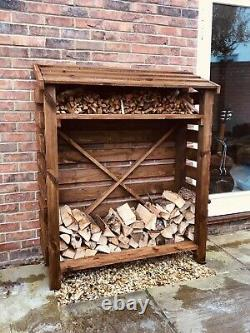 Handmade Stained Wooden Log Store