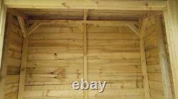 Handmade Unique Wooden open front Log Store