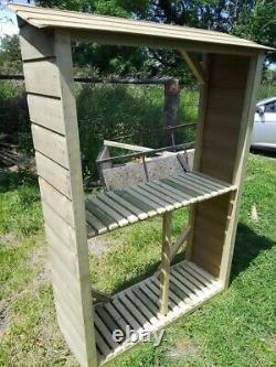 Handmade wooden log / recyling store / potting station / honesty stall