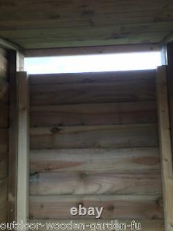 Heavy Duty 4 Ft Tall Double Bay Wooden Log Store