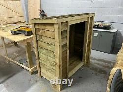 Heavy Duty 4FT Wooden Log Store (Available with Doors)