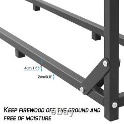 Heavy Duty 6.1 Ft Tall Single Bay Wooden Log Store Rack Firewood Shelter Outside