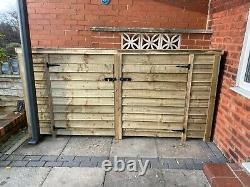 Heavy Duty Large 8FT Wooden Log Store (Available with Doors)