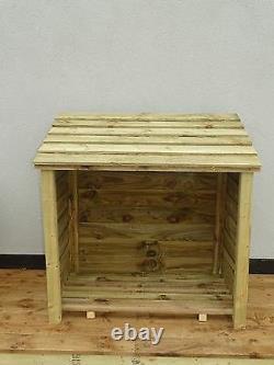 Heavy Duty, Large Wood Store, Firewood Wooden Outdoor Garden Log Storage