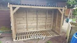 Heavy Duty Log Store 1.8 Metres Long! (6ft) Bike Store Etc 07940912751