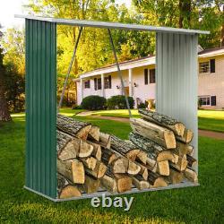 Heavy Duty Wood Store Metal Log Store Fireplace Garden Wooden Firewood Storage