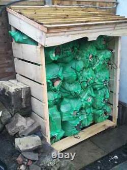 Heavy duty log and kindling stores, Coal fire log burners