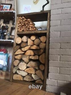 Indoor Wooden Log Store Modern Rustic Reclaimed Timber (basket alternative)