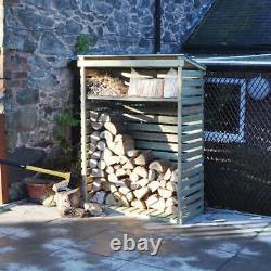 Kingfisher Wooden Log Store Outdoor Firewood Storage