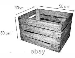 LOG BASKET / FIRE WOOD STORE / FIREPLACE KINDLING BOX Old Wooden Apple Crate