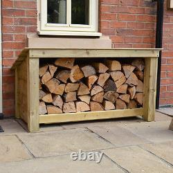 Langham Major Outdoor Wooden Logstore Heavy Duty