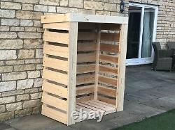 Large Heavy Duty Larch Cladded Wooden Log Store TOP QUALITY