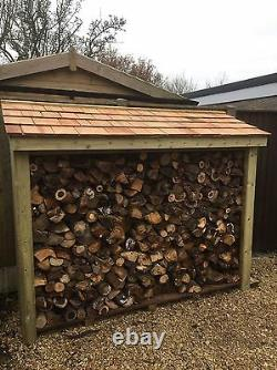Large Heavy Duty Pressure Treated Wooden Log Store TOP QUALITY