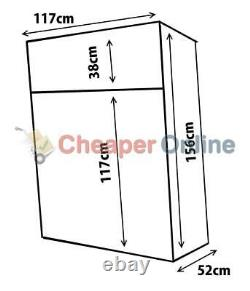Large Wooden Garden Log Store / Storage Shed with Shelf 156cm x 117cm