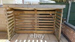 Large Wooden Log Store, Garden Store, Bin Store