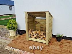 Log Store Wooden Garden Shed Reverse Roof W-990mm x H-1260mm x D-810mm