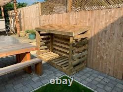 Log store, 6ft wide, 4.5ft tall, very sturdy and heavy, Gidleigh, wooden outdoor