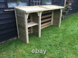 Log store, bin store, recycle store handmade wooden