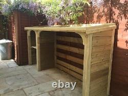 Log store kindling store bin/recycle tidy wooden hand made